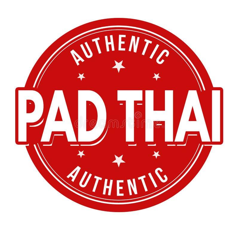 Thai tecken eller st?mpel f?r block stock illustrationer