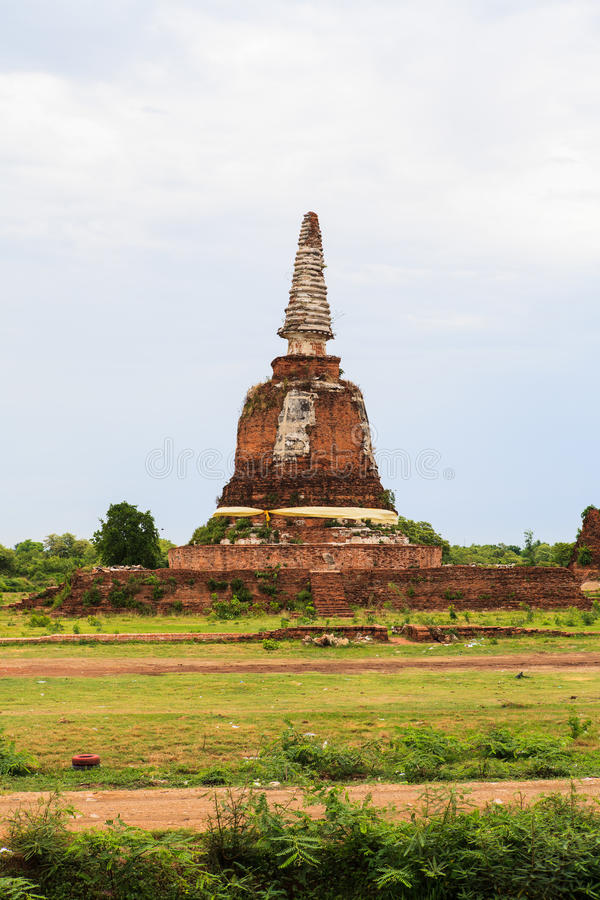Thai temple at Ayutthaya in Thailand. And most famous for tourist take photo from the river stock photography