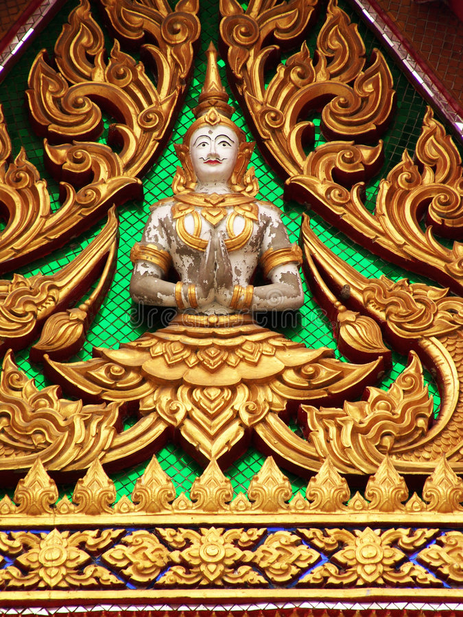 Thai Temple details. Dazzling details featured on a Buddhist temple near Bangkok, Thailand royalty free stock images