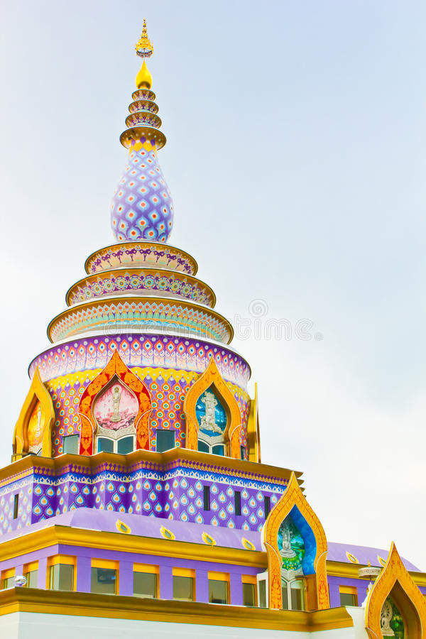 Thai temple in the hill royalty free stock photography