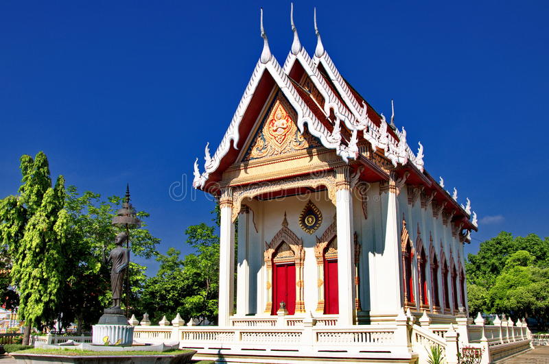 Thai temple in peaceful environment stock photography
