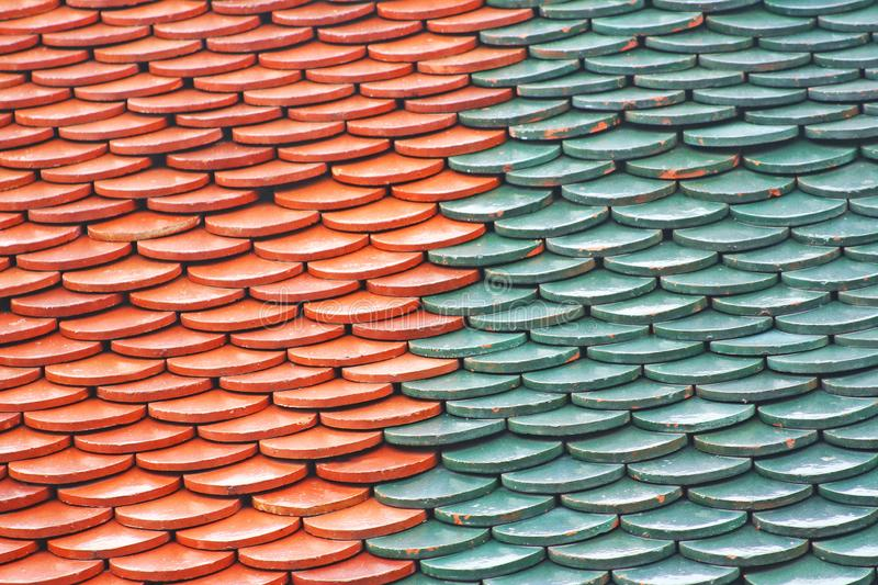 Thai temple roof pattern. Close up Thai temple roof pattern royalty free stock images