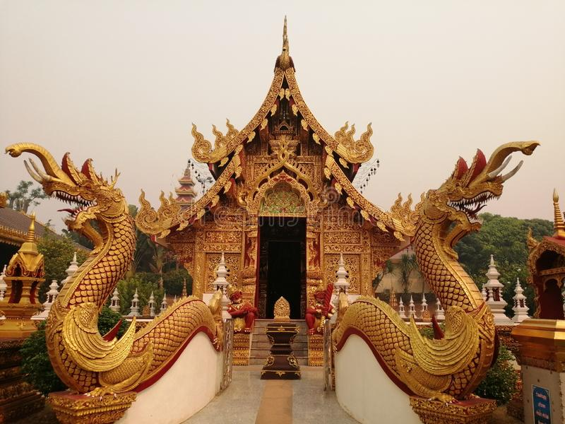 Thai temple. Sculpture, serpent, contemporaryart, sacredthings royalty free stock images