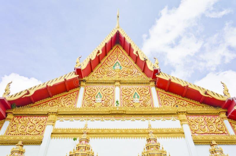 Thai temple style in Khon Kaen Thailand stock image