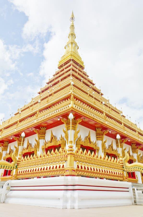 Thai temple style in Khon Kaen Thailand royalty free stock photography