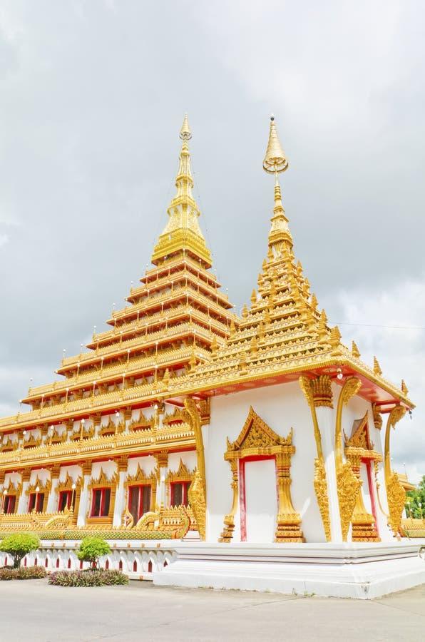 Thai temple style in Khon Kaen Thailand stock photos