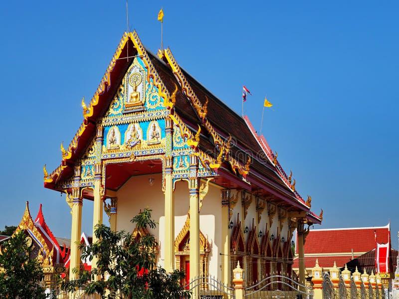 Thai temple Wat Salee Kopitaram in peaceful surrounding stock image