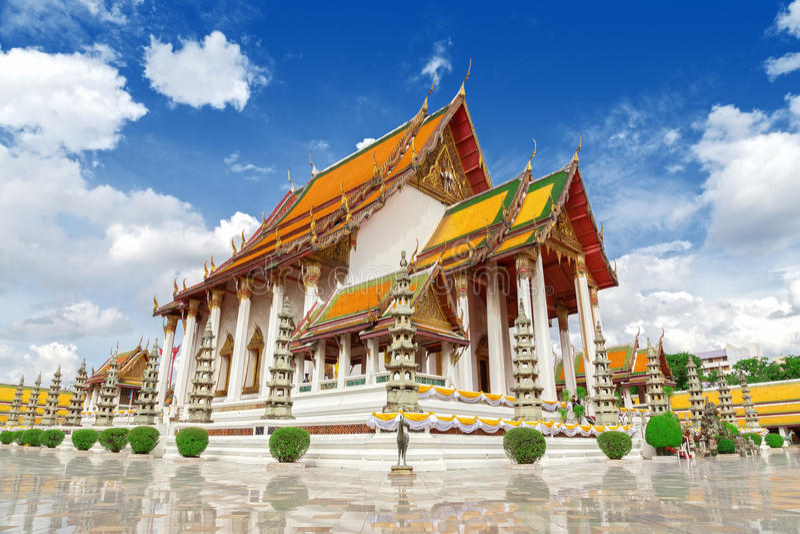 Thai temple, Wat Suthat. royalty free stock photos