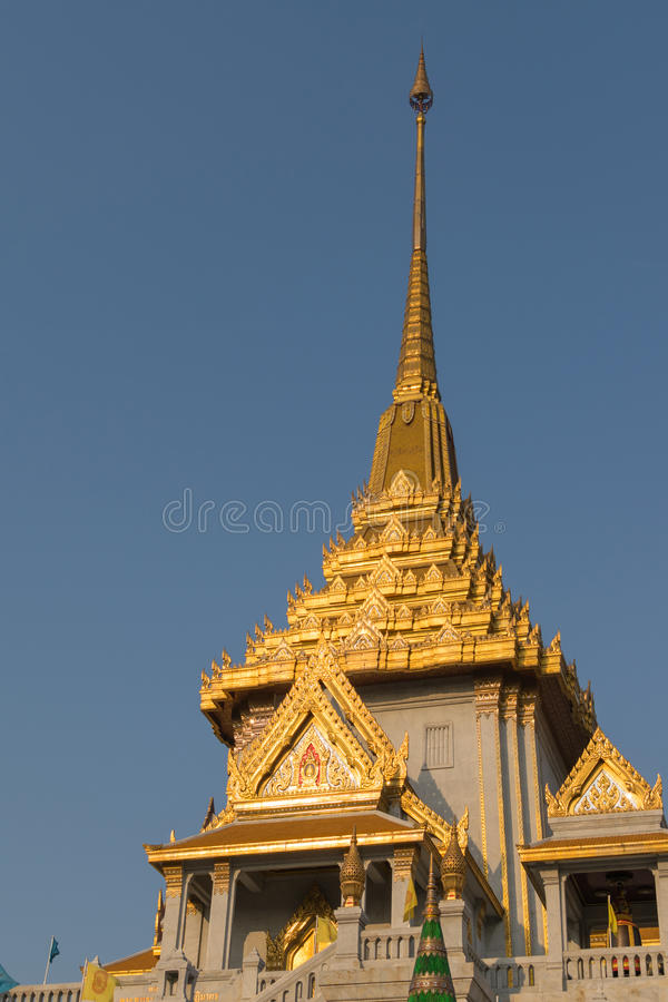 Thai temple, Wat Traimitr Withayaram stock images