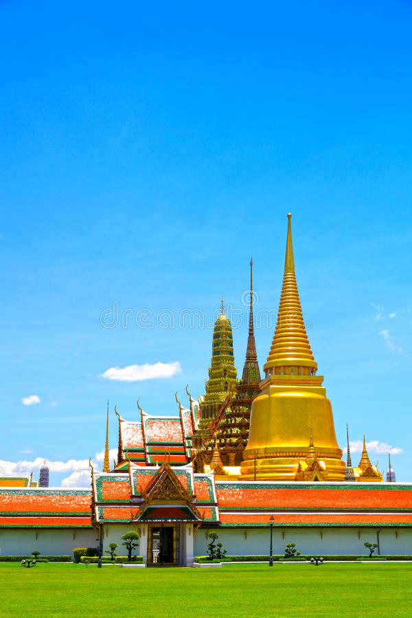 Thai temples, Wat Phra Kaew stock photos