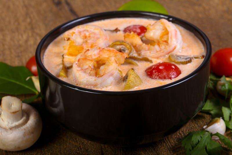 thai tom för soup sötpotatis arkivbilder