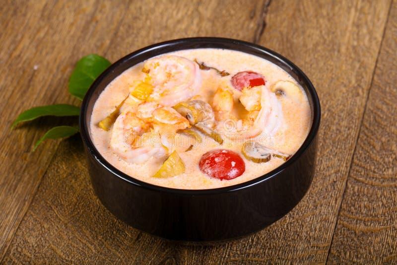 thai tom för soup sötpotatis fotografering för bildbyråer