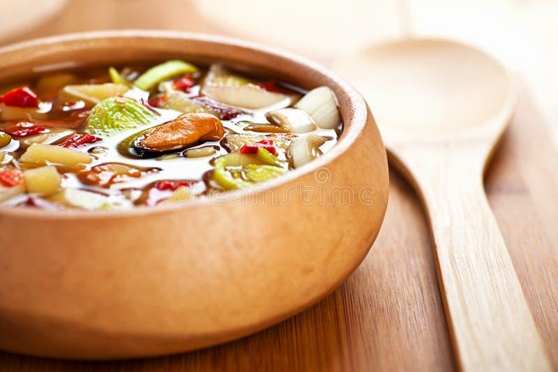 thai tom för soup sötpotatis arkivfoto
