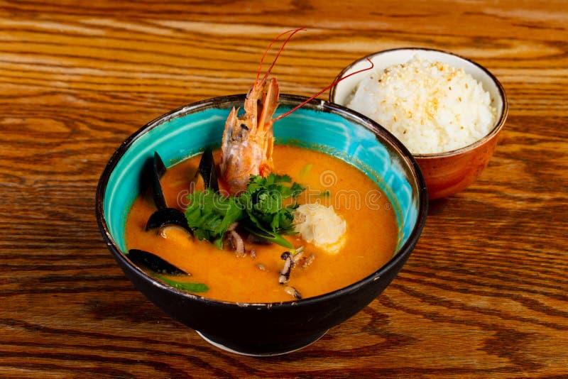 thai tom f?r soup s?tpotatis royaltyfria bilder