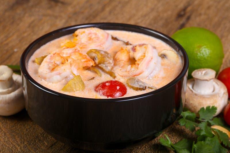 Thai Tom Yam soup royalty free stock photos