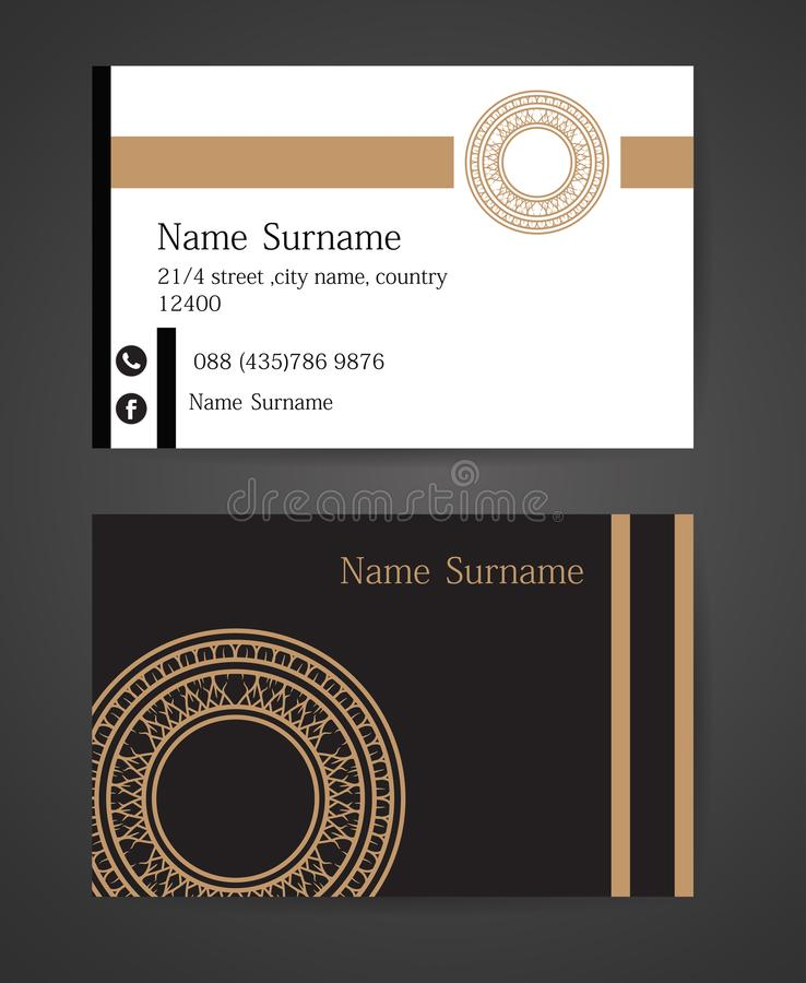 Thai tradition Creative and Clean Business Card Template. Vector thai tradition Creative and Clean Business Card Template vector illustration