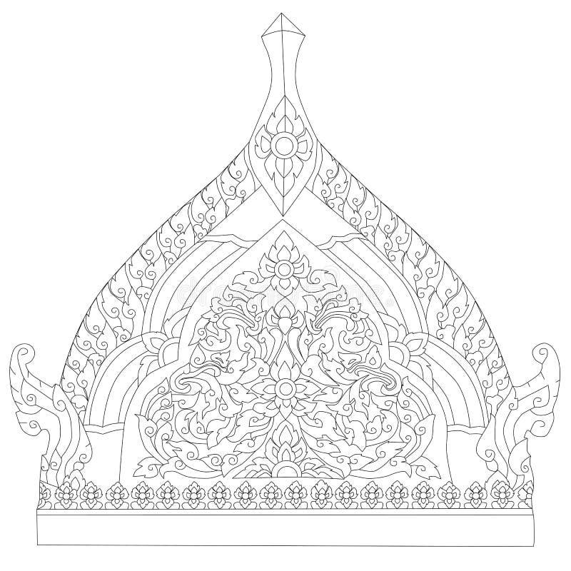 thai tradition för målningsstil stock illustrationer