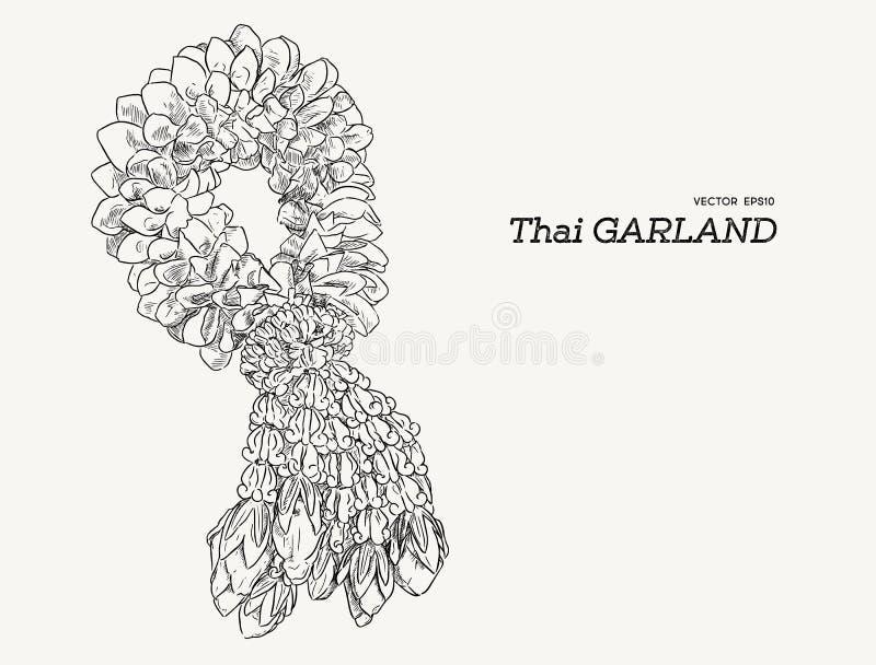 Thai tradition garland flower. stock illustration