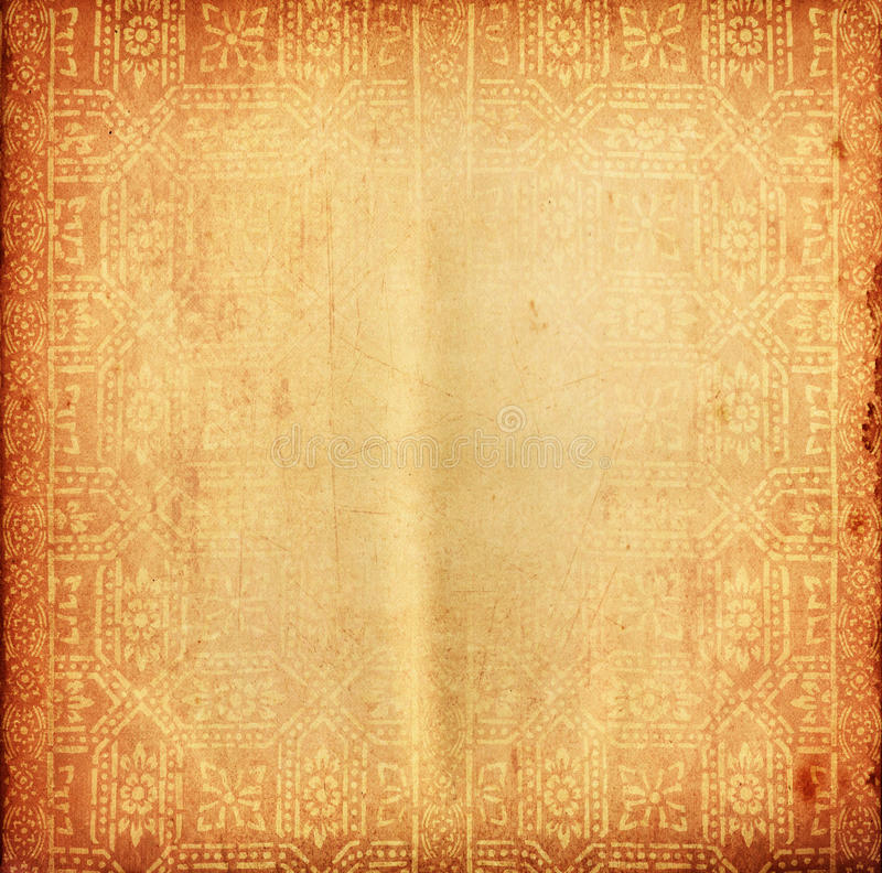 Thai tradition old paper for text and background. Thai temple tradition old paper for text and background stock illustration
