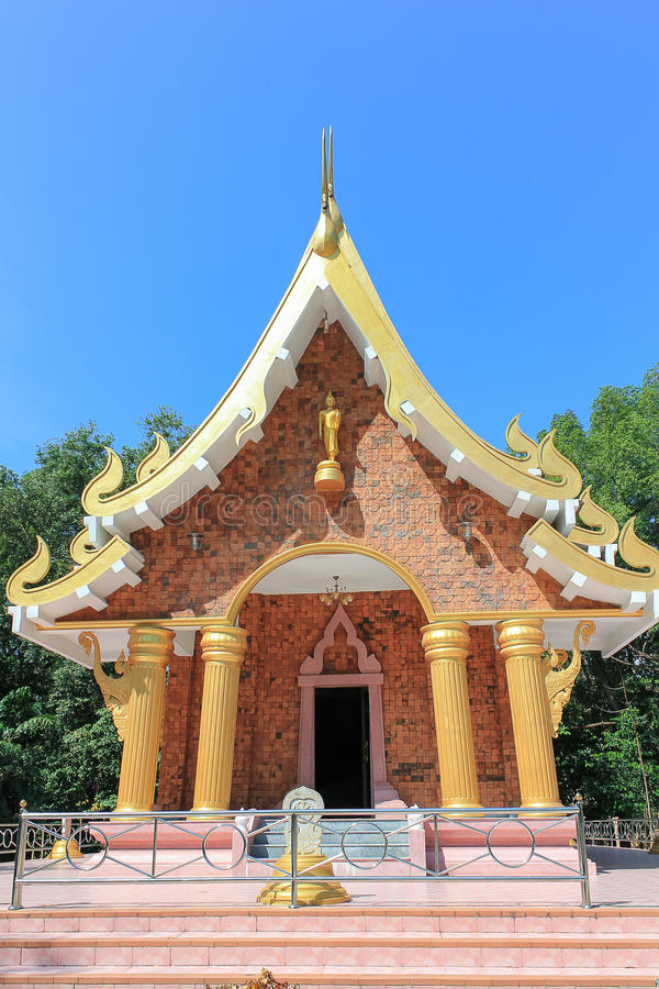 Thai traditional church which donate by people in countryside vi. Llage in Public Temple stock photos