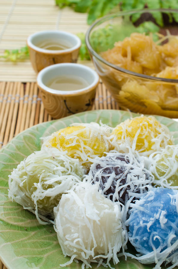 Thai Traditional Dessert Royalty Free Stock Images