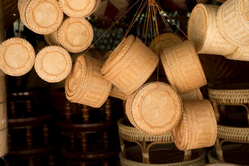 \'Thai traditional hand craft made by bamboo, Sale in the market beside the road in the north part of Thailand. I. \'Thai traditional hand craft made by bamboo royalty free stock photos