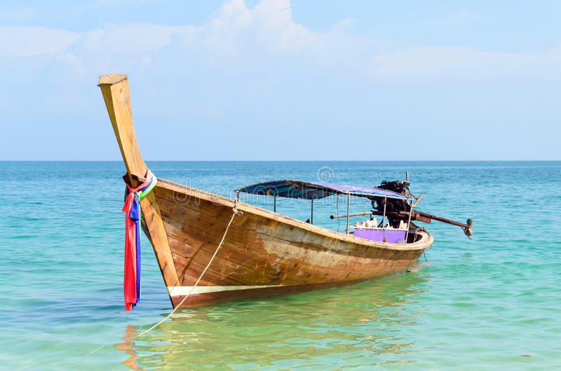 Download Thai Traditional Longtail Boat In The Sea Stock Photo - Image of longtail, cliff: 25988536