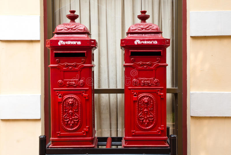 Thai Traditional post box. Thai Traditional red post box royalty free stock images
