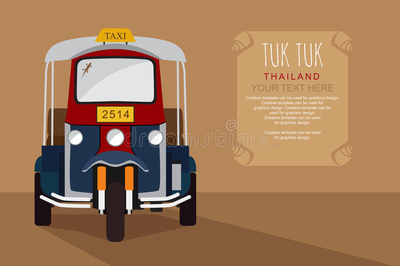 Thai traditional Taxi Thailand. royalty free illustration