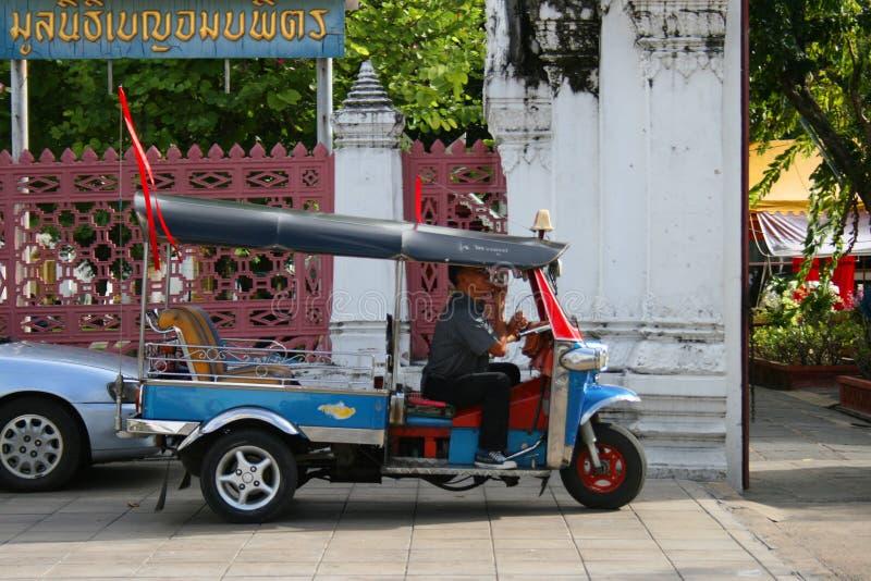 Thai tuk tuk taxi in Bangkok, Thailand.