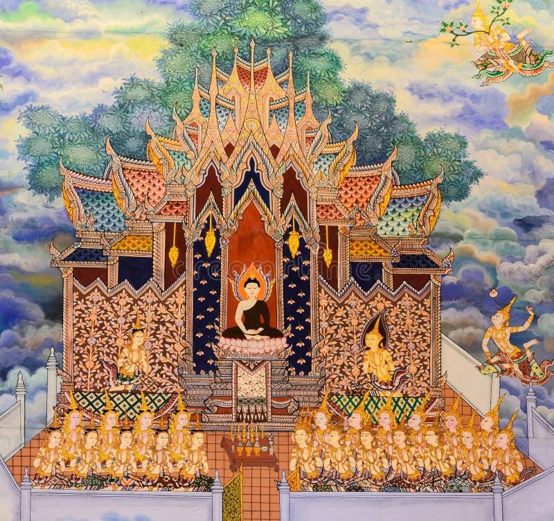 thai vägg- målning arkivbild