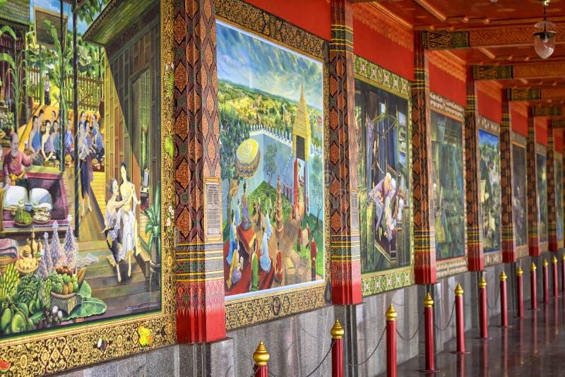 thai väggmålning royaltyfri bild