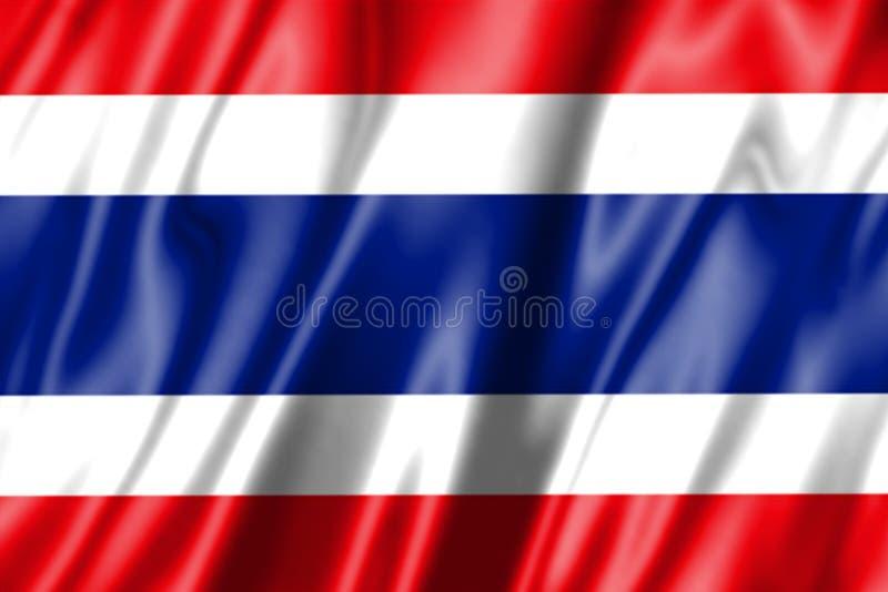 thai våg för flagga royaltyfri bild