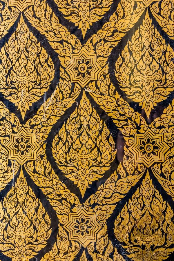Thai wall art pattern stock photo. Image of interior - 45561280