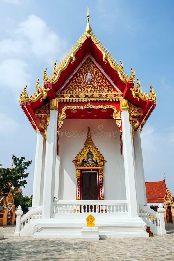 Thai watklangpakthongchai för tempel fotografering för bildbyråer