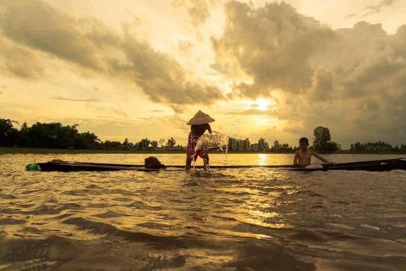 Thai, Weinig visser royalty-vrije stock fotografie