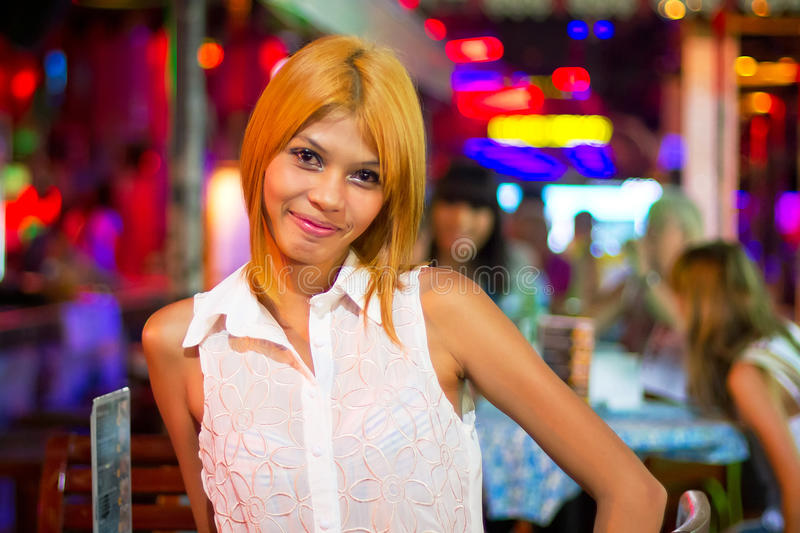 Thai Woman In The Nightclub Of Patong Editorial Photo