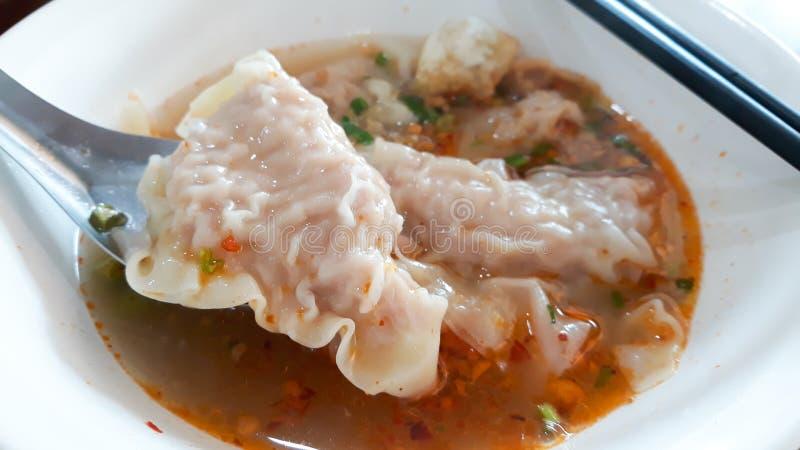 Thai wonton dumpling royalty free stock image