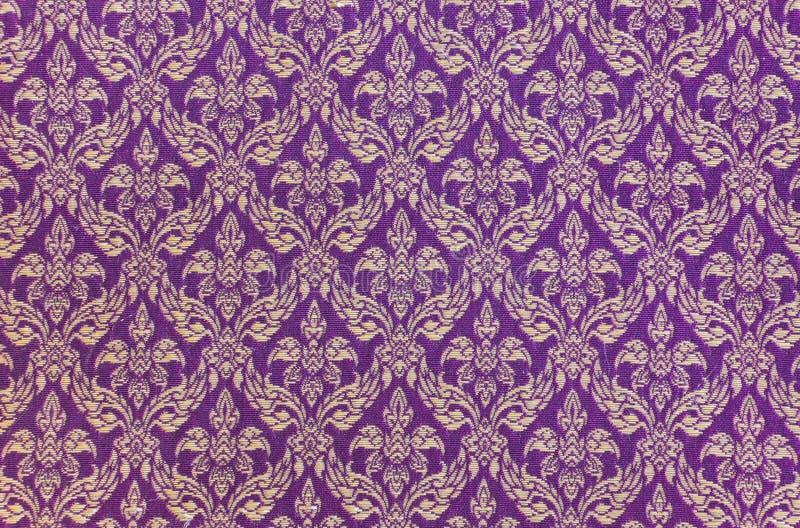 Thai woven fabric pattern. Traditional Thai handmade woven fabric stock image