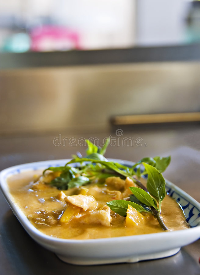 thai yellow för feg curry royaltyfri bild