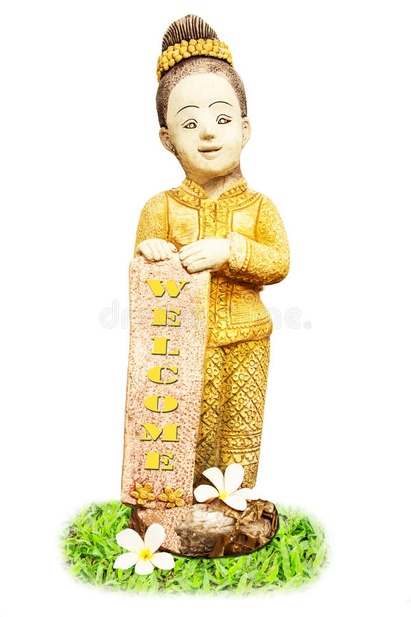 Download Thai young girl statue. stock photo. Image of pretty - 27821054