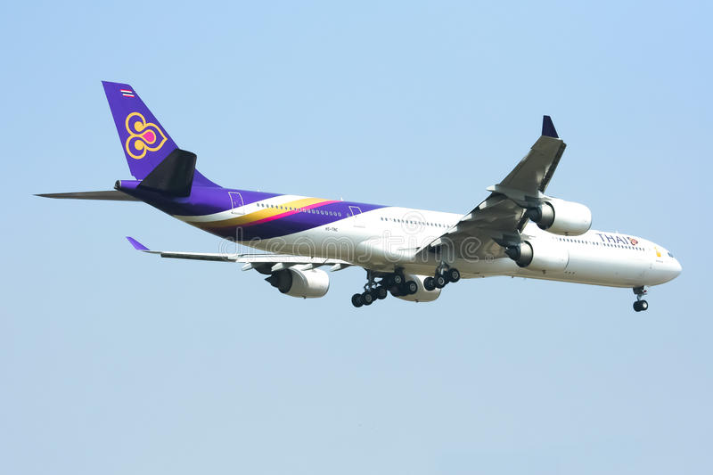 A340-600 Of Thaiairway Editorial Stock Image