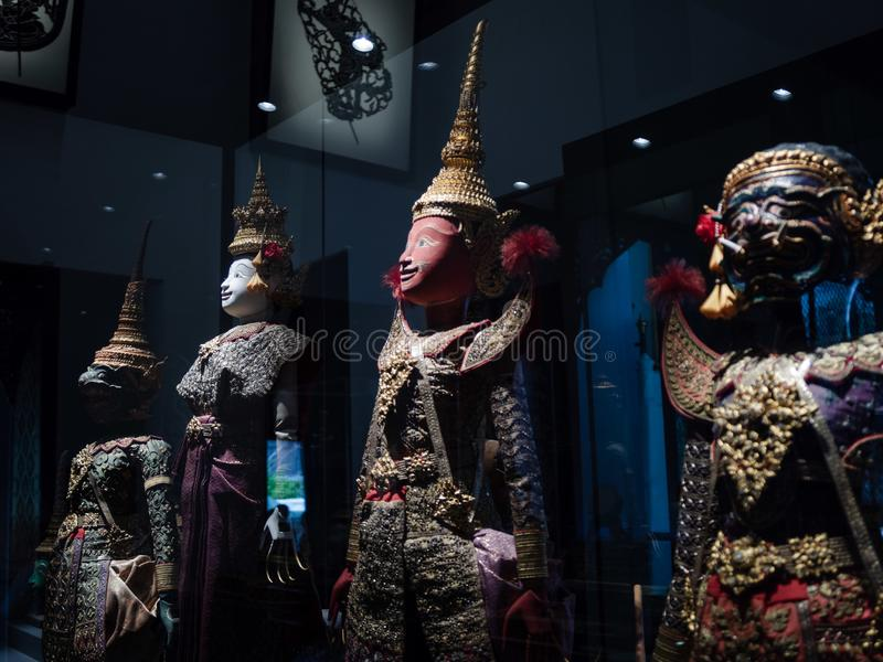 Thailändische alte Ramayana-Charaktermarionetten nannten die große Marionette lizenzfreie stockfotos