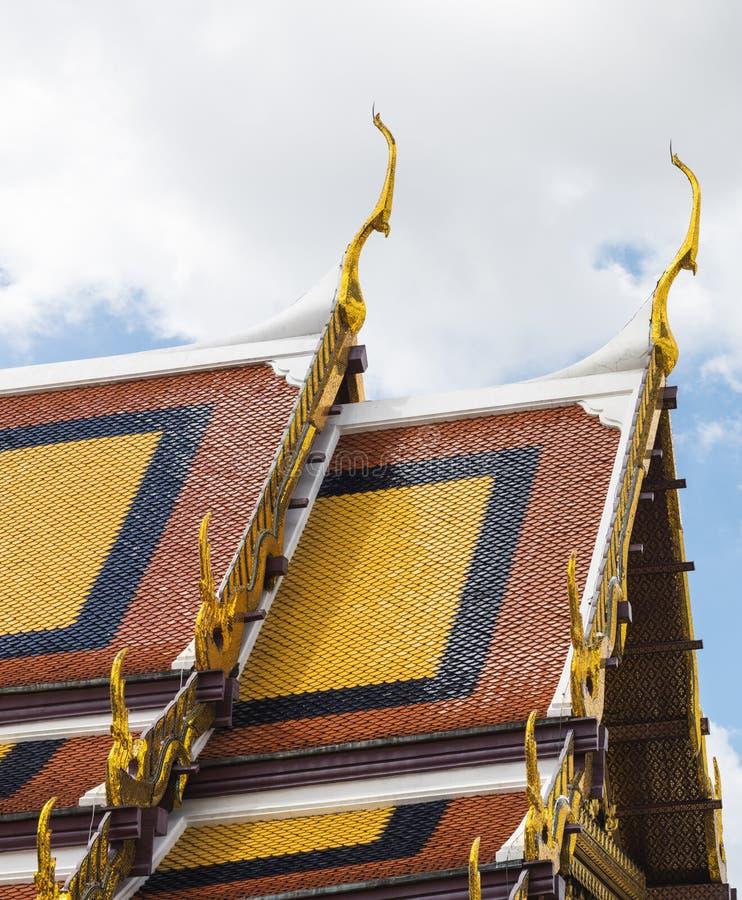 Thailändische Art-buddhistisches Architektur-Konzept stockfotografie