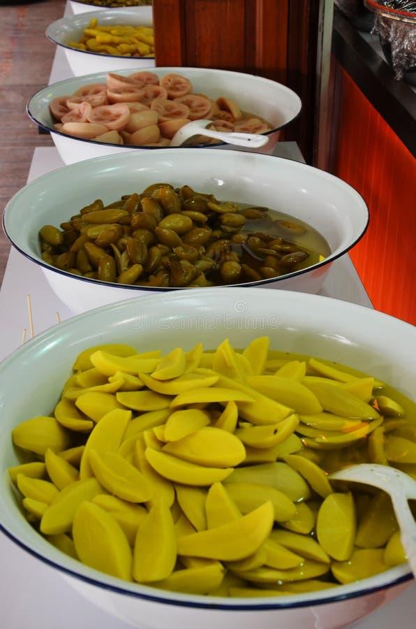 Thailändische Art der Fruchtkonserve lizenzfreies stockfoto