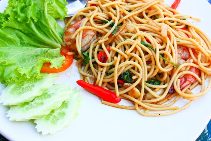 Thailändische Artspaghettis lizenzfreie stockfotografie