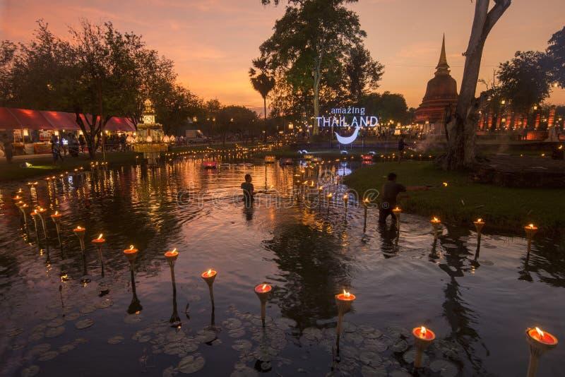 THAILÄNDISCHE BESCHÄDIGUNG DURCH FREMDKÖRPER ASIEN-THAILAND SUKHOTHAI lizenzfreies stockfoto