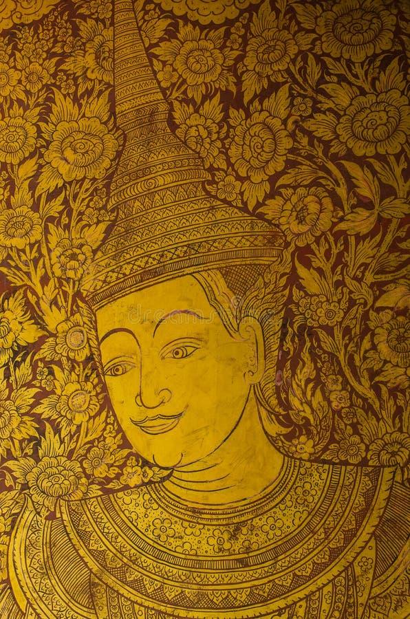 Thailändische Farbe auf der Wand stockbild