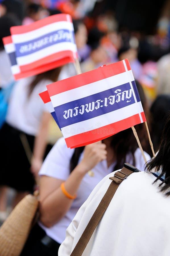 Thailändische Flagge lizenzfreie stockbilder