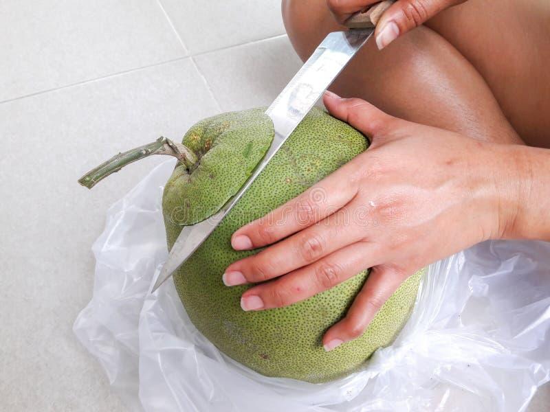 Thailändische Fruchtpampelmuse lizenzfreie stockfotos